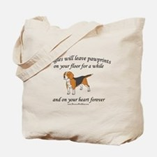 Beagle Pawprints Tote Bag