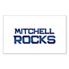 mitchell rocks Rectangle Decal