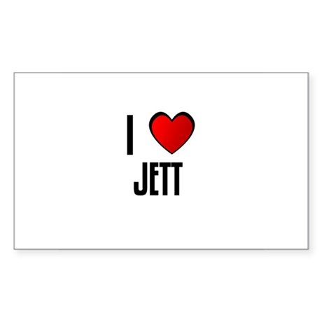 I LOVE JETT Rectangle Sticker