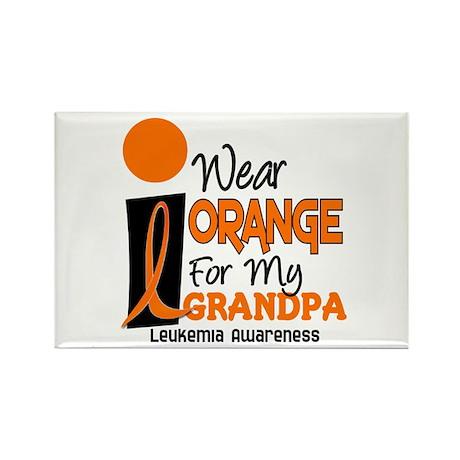 I Wear Orange For My Grandpa 9 LEUK Rectangle Magn