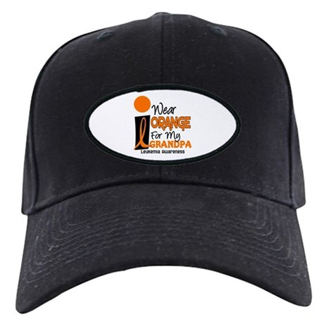 I Wear Orange For My Grandpa 9 LEUK Black Cap