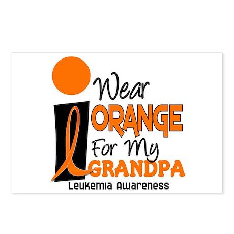 I Wear Orange For My Grandpa 9 LEUK Postcards (Pac