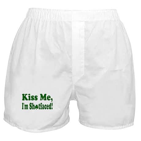 Kiss Me, I'm Shitfaced! Boxer Shorts