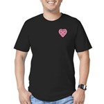 Bijii Heartknot Men's Fitted T-Shirt (dark)