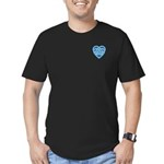 Adanvdo Heartknot Men's Fitted T-Shirt (dark)