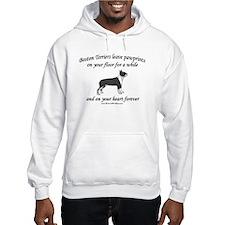 Boston Terrier Pawprints Hoodie