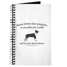 Boston Terrier Pawprints Journal