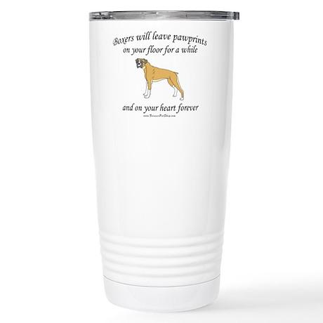 Boxer Pawprints Stainless Steel Travel Mug