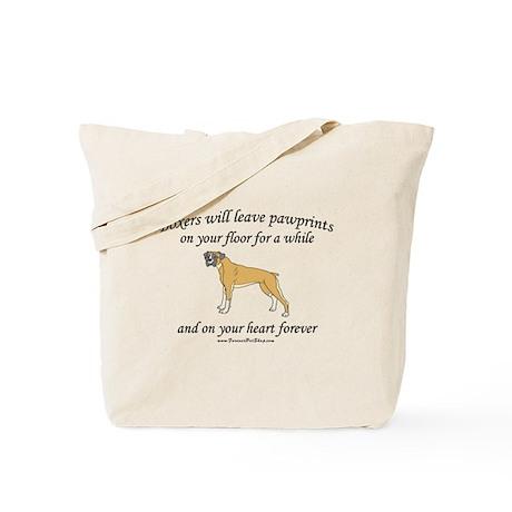 Boxer Pawprints Tote Bag