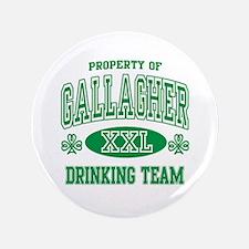 """Gallagher Irish Drinking Team 3.5"""" Button"""