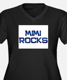 mimi rocks Women's Plus Size V-Neck Dark T-Shirt