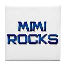 mimi rocks Tile Coaster
