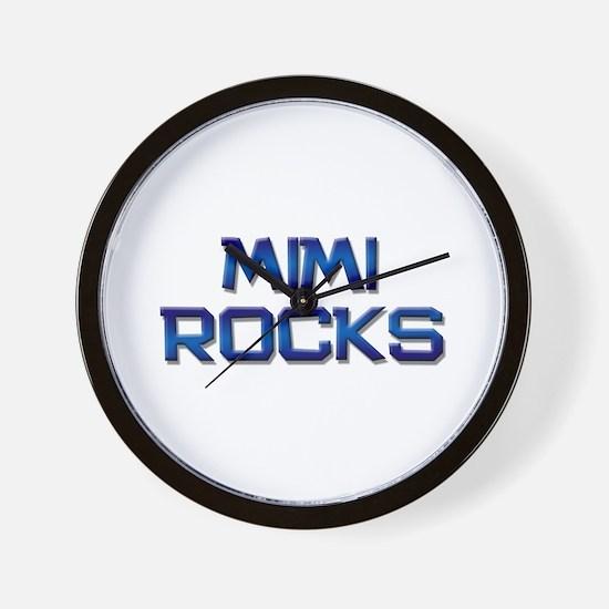 mimi rocks Wall Clock
