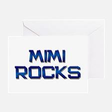mimi rocks Greeting Card
