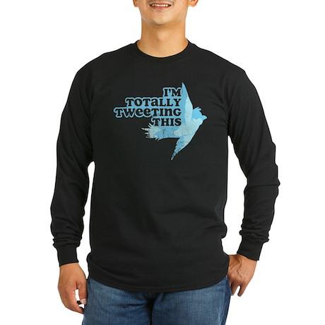 Tweeting This Twitter Long Sleeve Dark T-Shirt
