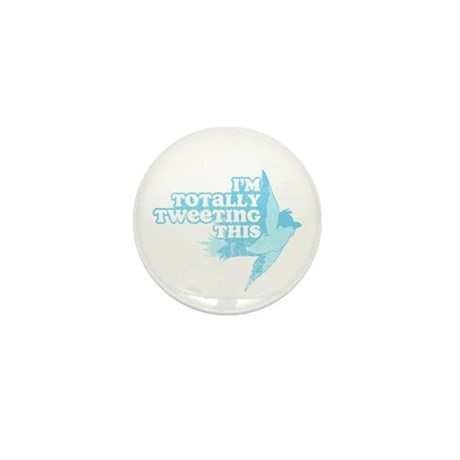 Tweeting This Twitter Mini Button (10 pack)