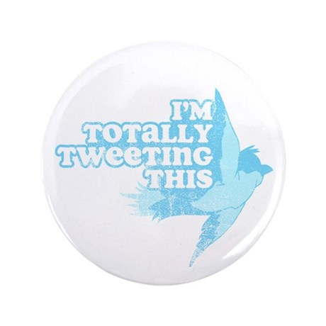 """Tweeting This Twitter 3.5"""" Button (100 pack)"""