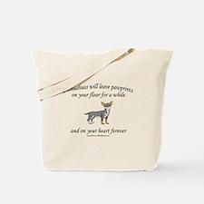 Chihuahua Pawprints Tote Bag