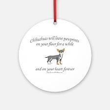 Chihuahua Pawprints Ornament (Round)