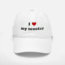 I Love my scooter Baseball Baseball Cap