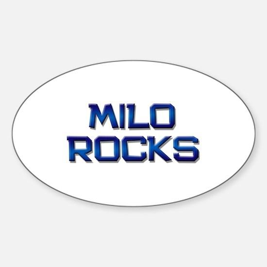 milo rocks Oval Decal