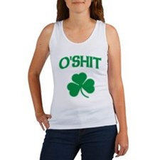 O'Shit Irish Shamrock Women's Tank Top