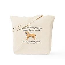 Mastif Pawprints Tote Bag