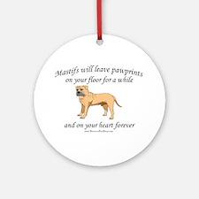 Mastif Pawprints Ornament (Round)