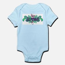 Alyson's Butterfly Name Infant Creeper