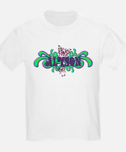 Alyson's Butterfly Name Kids T-Shirt