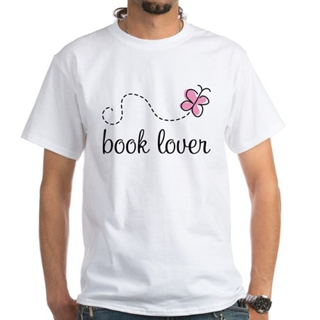 Cute Book Lover White T-Shirt