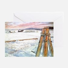 Harvesting ice Greeting Cards (Pk of 10)