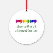 Rainbow Shower Ornament (Round)