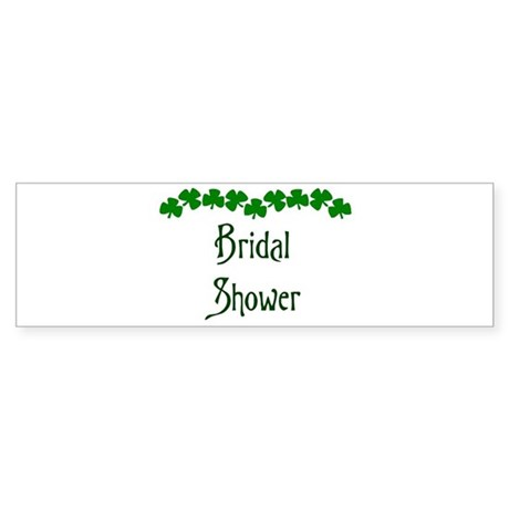 Shamrock Shower Bumper Sticker