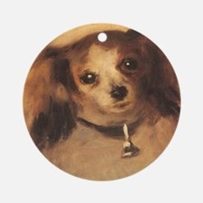 Renoir Head of a Dog Ornament (Round)