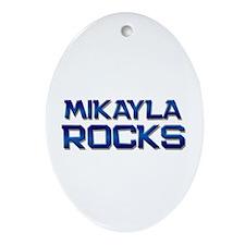 mikayla rocks Oval Ornament