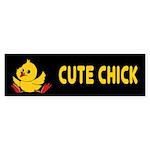 Cute Chick Bumper Sticker (50 pk)