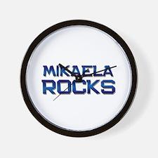 mikaela rocks Wall Clock
