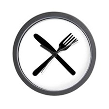 cutlery - knife and fork Wall Clock