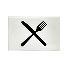 cutlery - knife and fork Rectangle Magnet