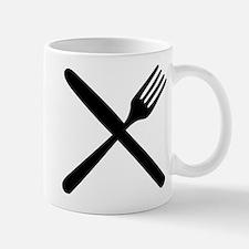 cutlery - knife and fork Mug