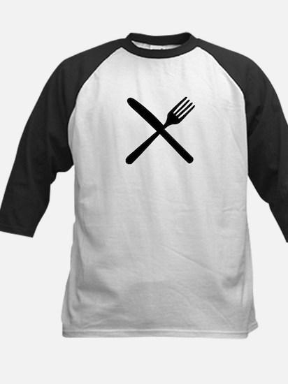 cutlery - knife and fork Kids Baseball Jersey