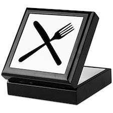cutlery - knife and fork Keepsake Box
