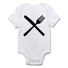 cutlery - knife and fork Infant Bodysuit