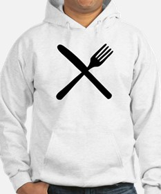 cutlery - knife and fork Hoodie