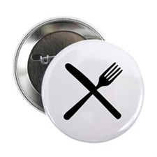 "cutlery - knife and fork 2.25"" Button"