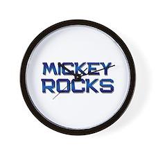 mickey rocks Wall Clock