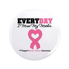 "Breast Cancer Miss Mother 3.5"" Button"