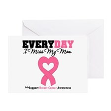 Breast Cancer Miss Mom Greeting Card