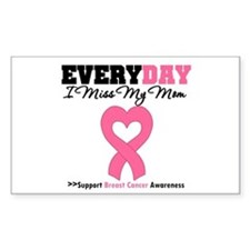 Breast Cancer Miss Mom Rectangle Decal